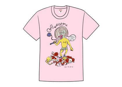 Supreme Daniel Johnston Kill Em All Tee Light Pinkの写真