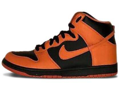 Nike Dunk High Black Safety Orangeの写真