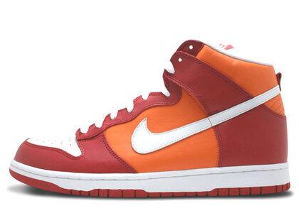 Nike Dunk High Varsity Red Orange Blazeの写真