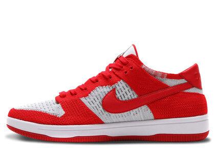 Nike Dunk Low Flyknit University Red Wolf Greyの写真