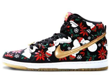 Nike Dunk SB High Concepts Ugly Christmas Sweater Blackの写真