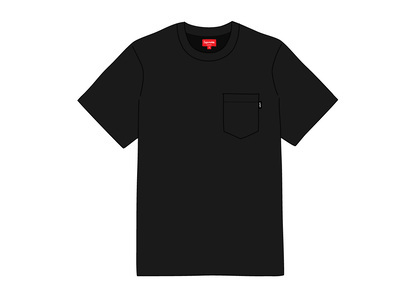 Supreme S-S Pocket Tee Blackの写真