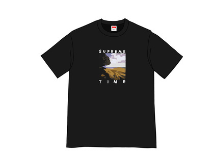 Supreme Supreme Time Tee Blackの写真