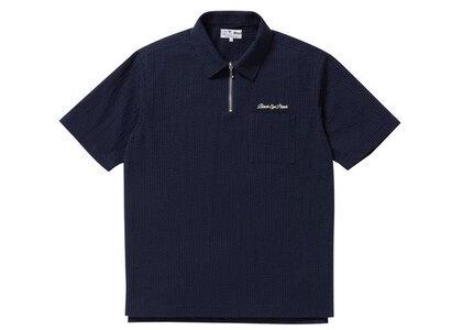 The Black Eye Patch Seersucker Half Zip Shirt Navy (SS21)の写真