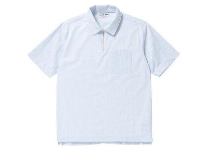 The Black Eye Patch Seersucker Half Zip Shirt Sax (SS21)の写真