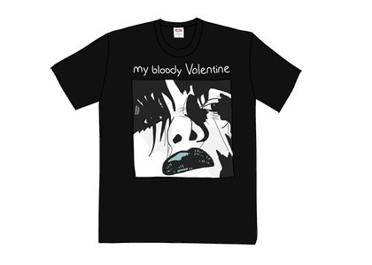 Supreme My Bloody Valentine Feed Me With Your Kiss Tee Blackの写真