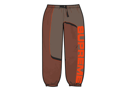 Supreme S Paneled Belted Track Pant Brown (FW21)の写真