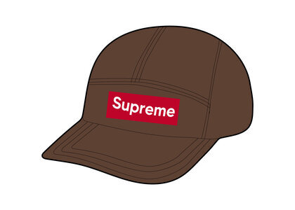 Supreme Washed Chino Twill Camp Cap Brown (FW21)の写真