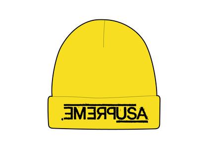 Supreme USA Beanie Yellow (FW21)の写真