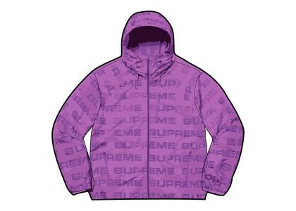 Supreme Logo Ripstop Hooded Track Jacket Purple (FW21)の写真