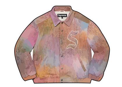 Supreme Pebbled Leather Varsity Jacket Multi (FW21)の写真