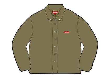 Supreme Small Box Twill Shirt Khaki (FW21)の写真