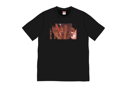 Supreme Split Tee Blackの写真