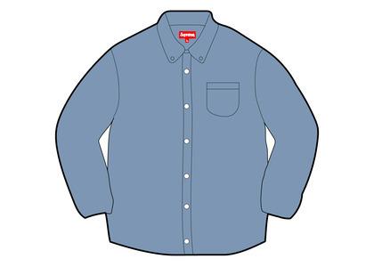 Supreme Appliqué Denim Shirt Blue (FW21)の写真