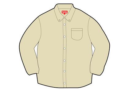 Supreme Appliqué Denim Shirt Yellow (FW21)の写真