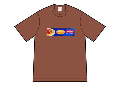 Supreme Spaghetti Tee Brown (FW21)の写真