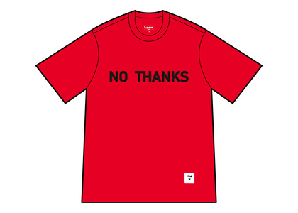 Supreme No Thanks S/S Top Red (FW21)の写真