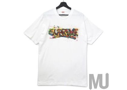 Supreme Paint Logo Tee Whiteの写真
