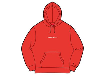 Supreme Number One Hooded Sweatshirt Red (FW21)の写真