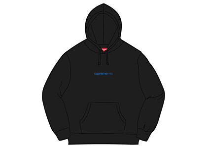 Supreme Number One Hooded Sweatshirt Black (FW21)の写真