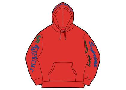 Supreme Multi Logo Hooded Sweatshirt Red (FW21)の写真