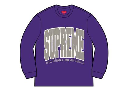 Supreme Cities Arc Crewneck Purple (FW21)の写真