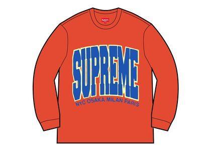 Supreme Cities Arc Crewneck Orange (FW21)の写真
