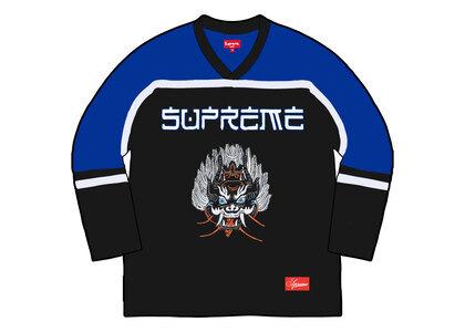 Supreme Demon Hockey Jersey Blue/Black (FW21)の写真