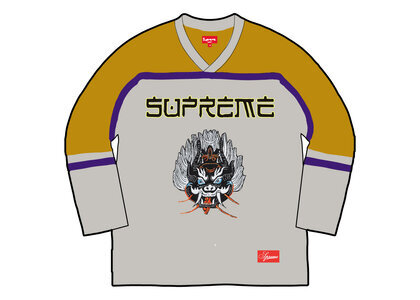 Supreme Demon Hockey Jersey Yellow/Gray (FW21)の写真