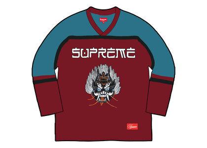 Supreme Demon Hockey Jersey Green/Red (FW21)の写真