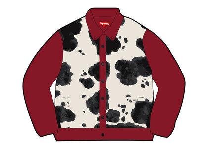 Supreme Cow Print Cardigan Red (FW21)の写真