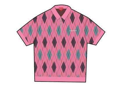 Supreme Argyle Zip Polo Pink (FW21)の写真