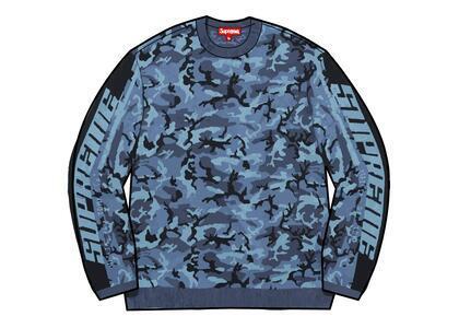 Supreme Sleeve Stripe Sweater Blue (FW21)の写真
