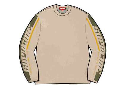Supreme Sleeve Stripe Sweater Beige (FW21)の写真