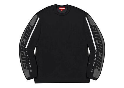 Supreme Sleeve Stripe Sweater Black (FW21)の写真