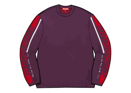 Supreme Sleeve Stripe Sweater Purple (FW21)の写真