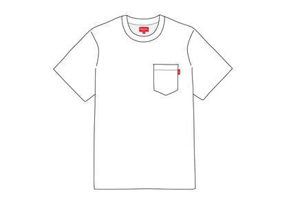 Supreme S-S Pocket Tee Whiteの写真
