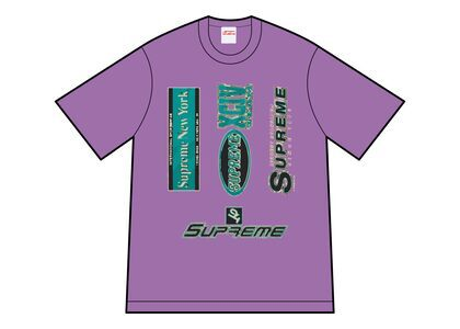 Supreme Multi Logos Tee Purple (FW21)の写真