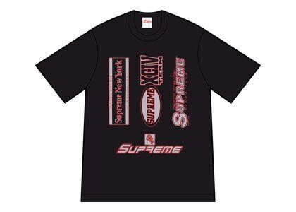 Supreme Multi Logos Tee Black (FW21)の写真