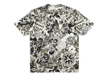 Palace Sticker Pack T Shirt Black/White (FW21)の写真