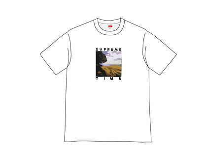 Supreme Supreme Time Tee Whiteの写真