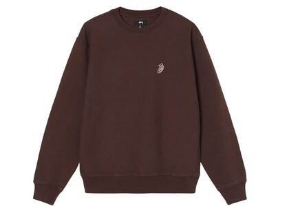 Stussy Swirl Embroidered Crew Brown (FW21)の写真