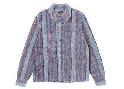 Stussy Stripe Sherpa Shirt Blue (FW21)の写真