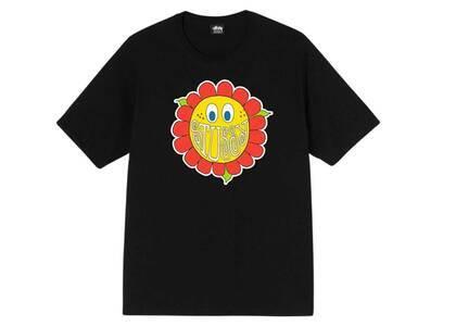 Stussy Happy Flower Tee Black (FW21)の写真