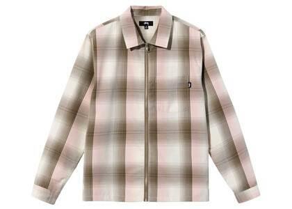 Stussy Shadow Plaid Zip Shirt Natural (FW21)の写真