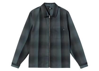 Stussy Shadow Plaid Zip Shirt Charcoal (FW21)の写真