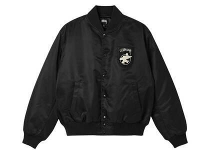 Stussy Surfman Stadium Jacket Black (FW21)の写真