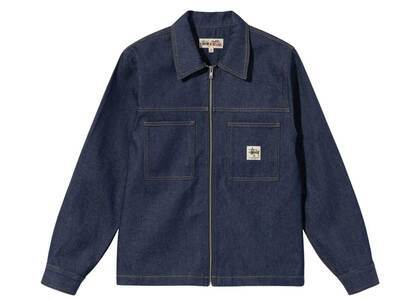 Stussy Denim Zip Up Work Shirt Indigo (FW21)の写真