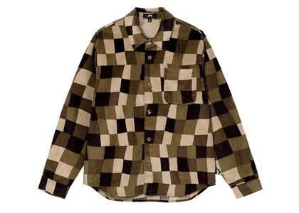 Stussy Wobbly Check Ls Shirt Brown (FW21)の写真