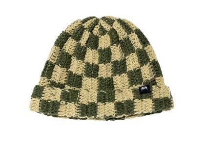 Stussy Crochet Checker Beanie Olive (FW21)の写真